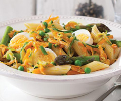 Egg and vegetable pasta